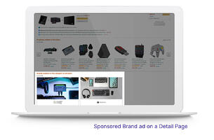 Sponsored Brand ad on Amazon Detail Page.