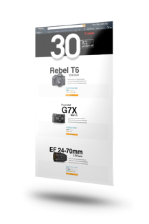Amazon Custom Landing Page showing different tiered items for Canon cameras.