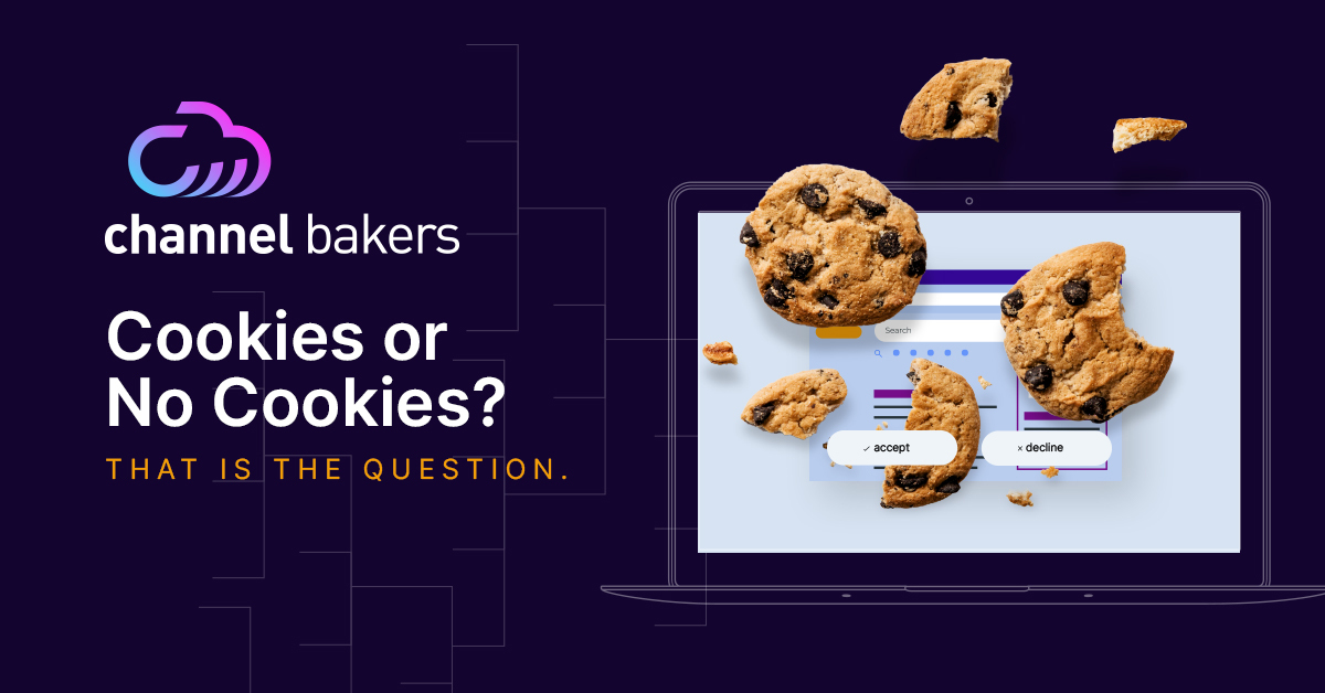 Cookies on a computer screen with title saying,